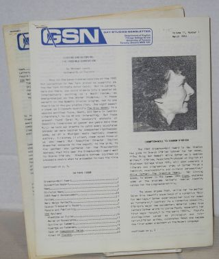 GSN: Gay studies newsletter. [five issues]