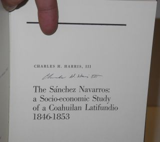 The Sánchez Navarros: a socio-economic study of a Coahuilan Latifundo 1846-1853