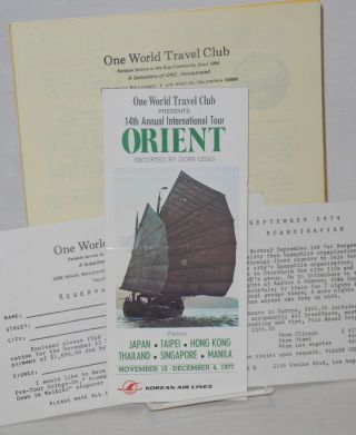 One World Travel Club materials. Inc One