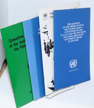 Committee on the Exercise of the Inalienable Rights of the Palestinian People, United Nations [group of 11 pamphlets]