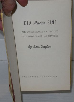 Did Adam sin? and other stories of Negro life in comedy-drama and sketches