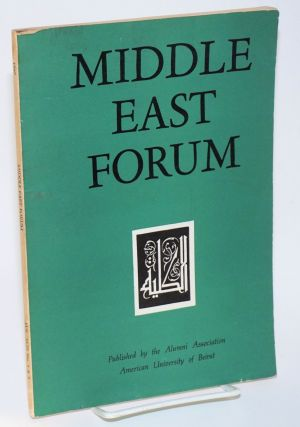 Middle East Forum. Vol. XLIII no. 2/3 (Double issue