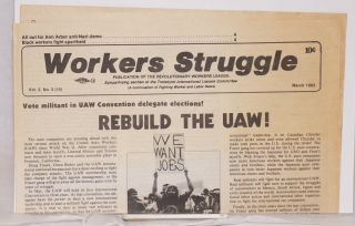 Workers Struggle [three issues]
