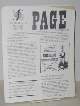 Page: newsletter of the Friends of the Sacramento History Center; March-April 1986