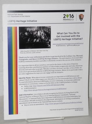 LGBTQ Heritage Intiative: what can you do to get involved with the LGBTQ Heritage Intiative....