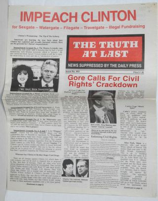 The Truth at Last, issue 403 News suppressed by the daily press. E. R. Fields