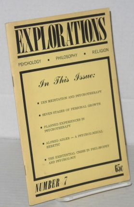 Explorations: psychology.philosophy.religion numbers 6 & 7 [two issues]