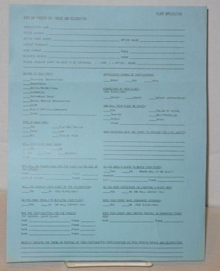 1979 Gay Freedom Day Parade & celebration applications and press release [four items]