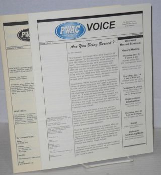 PWAC San Francisco voice: the newsletter of the People with AIDS Coalition of San Francisco; vol. 1, #1 & 2, vol. 2, #2 Nov/Dec 1995 & Spring 1996 [3 issue broken run]