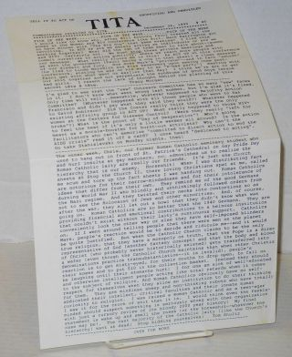 TITA: Tell it to ACT UP: unofficial and unmuzzled; communiques received by TITA; #40 & #49, December 26, 1990 & February 25, 1991 [two issues]