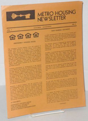 Metro Housing newsletter: vol. 1, #s 1 & 2, August, October/November 1975 [first two issues]