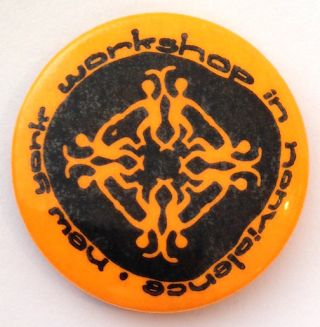 New York Workshop in Nonviolence [pinback button