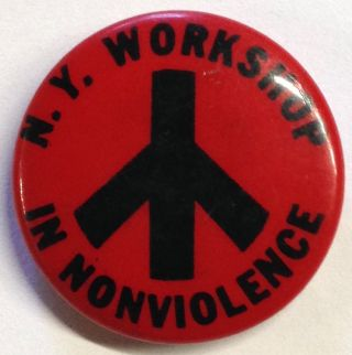 NY Workshop in Nonviolence [pinback button
