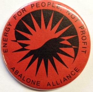 Energy for people, not profit [pinback button]. Abalone Alliance