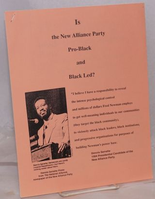 Inside the New Alliance Party