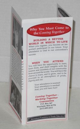 The International Foundation for Gender Education presenting Eighth Annual 'Coming together - working together' convention: [brochure] Portland, Oregon March 12th - 20th, 1994