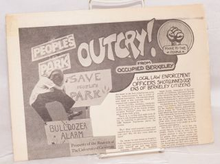 Outcry! from occupied Berkeley [tabloid]. Michael P. Lerner