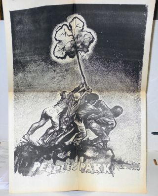 People's Park Outcry! from occupied Berkeley [tabloid]