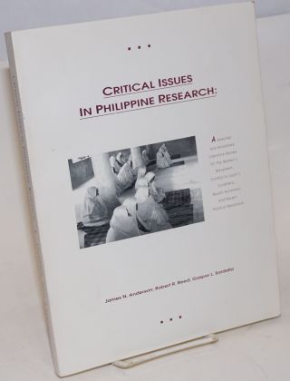 Critical issues in Philippine research: a selected and annotated literature review on the women's...