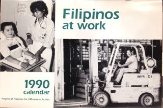 Filipinos at work. 1990 calendar
