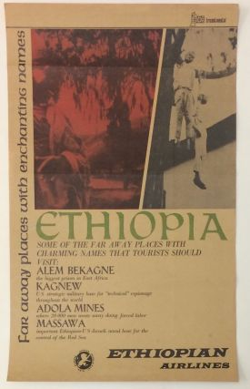Far away places with enchanting names [parody poster for Ethiopian Airlines, blasting the...