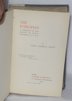 The Ethiopian; a narrative of the society of human leopards.