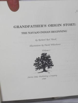 Grandfather's origin story: the Navajo Indian beginning
