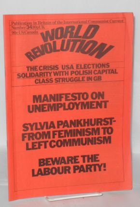 World Revolution, No. 34, Oct.-Nov. 1980 Publication in Britain of the International Communist...