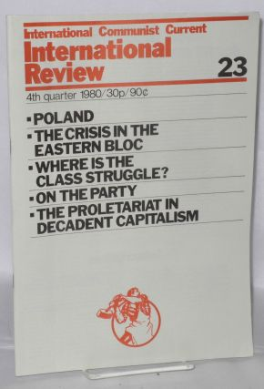 International Review, No. 23, 4th quarter 1980. International Communist Current