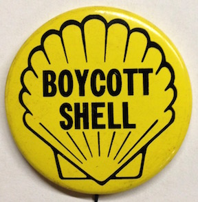 Boycott Shell [pinback button]
