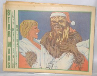 Pacific Coast Times: California Bi-weekly newspaper; issue #107, December 2-14,1977: Hiro gay Luke Skywalker and Chewbacca Christmas poster