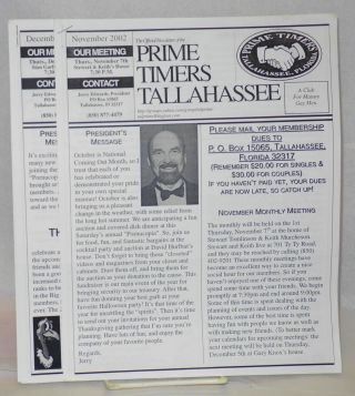 The official newsletter of the Prime Timers Tallahassee: a Club for mature men November &...