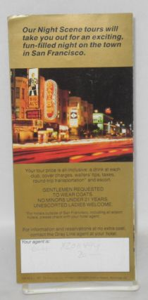 Night Scene 1987 Dinner! Shows! Sights! [brochure] The Gray Line, San Francisco