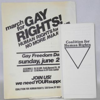 Handbill, brochure, press release, by-laws and minutes five items. Coalition for Human Rights