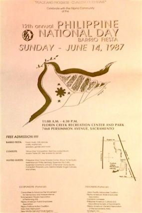 12th Annual Philippine National Day Barrio Fiesta. Sunday - June 14, 1987 [poster]. Committee to...