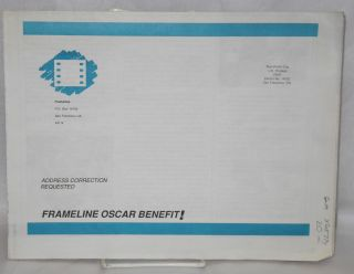Framelines: the newsletter of Lesbian and Gay media arts; Spring 1986 - Isherwood Tribute & Oscar...