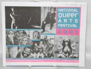 National Queer Arts Festival: June 2001, calendar of events