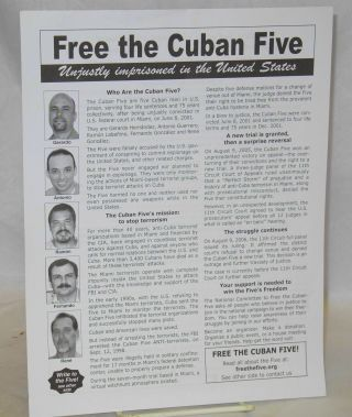 Free the Cuban Five: unjustly imprisoned in the United States [handbill
