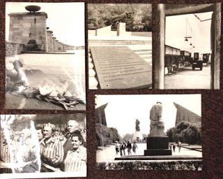 Antifascist memorials in the GDR [five press photographs