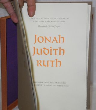 Three Stories from the Old Testament, King James Authorized Version: Jonah Judith Ruth. Illustations by Michele Forgeois