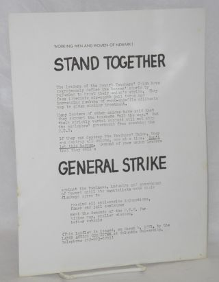 Working men and women of Newark! Stand together [handbill