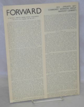 Forward, no. 2 (Jan. 1977). Communist Workers Group, Marxist-Leninist