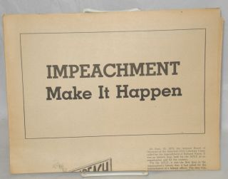 Impeachment: make it happen