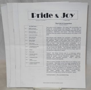 Pride & Joy: Southern Colorado's only monthly GLBT publication since 2005; [six issue broken run]