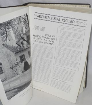 The Architectural Record, Volume 71, January - June 1932, Volume 72, July - December 1932 [12 issues together in one binding]