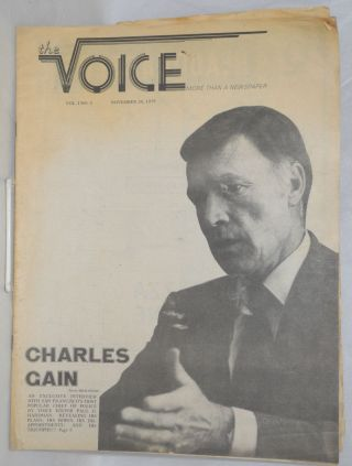 The voice: more than a newspaper; vol. 1, #4, November 30, 1979; Charles Cain Interview. Paul D....