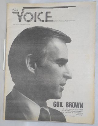 The Voice: more than a newspaper; vol. 1, #5, December 12, 1979; Governor Brown. Paul D. Hardman,...