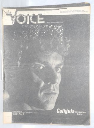 The Voice: more than a newspaper; vol. 2, #8, April 11, 1980. Paul D. Hardman, E. Lee Clifton Ken...