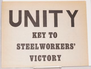 Unity key to steelworkers' victory