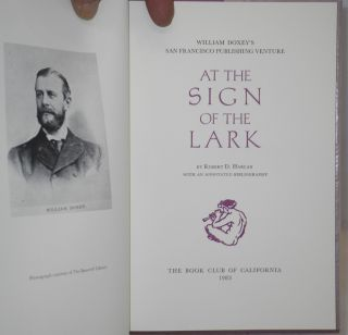 At the Sign of the Lark: William Doxey's publishing venture with an annotated bibliography